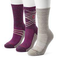 Women's Free Country 3-pk. Geometric Striped Wool-Blend Hiking Socks