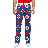 Men's Loudmouth Chicago Cubs Argyle Pants