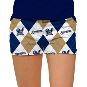 Women's Loudmouth Milwaukee Brewers Argyle Shorts