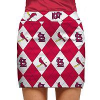Women's Loudmouth St. Louis Cardinals Golf Argyle Skort