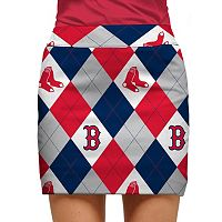 Women's Loudmouth Boston Red Sox Golf Argyle Skort