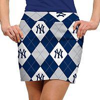 Women's Loudmouth New York Yankees Golf Argyle Skort