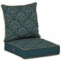 Bombay® Outdoors Royal Zanzibar Medallion Adjustable Comfort Reversible Deep Seat Chair Cushion Set