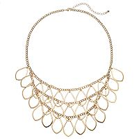 Apt. 9® Layered Open Teardrop Necklace