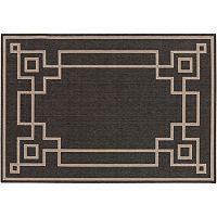 Surya Blanche Framed Geometric Indoor Outdoor Rug
