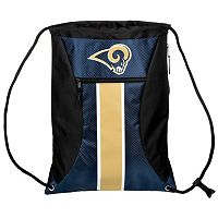 Forever Collectibles Los Angeles Rams Striped Zipper Drawstring Backpack