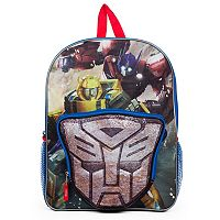 Kids Transformers Optimus Prime, Bumblebee & Red Wing Backpack & Logo Lunch Box Set