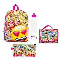 Kids Glitter Emoji 5-pc. Backpack & Lunch Box Set
