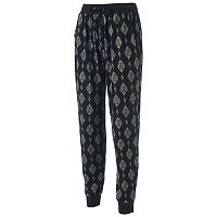 Juniors' Pink Rose Relaxed Fit Jogger Pants