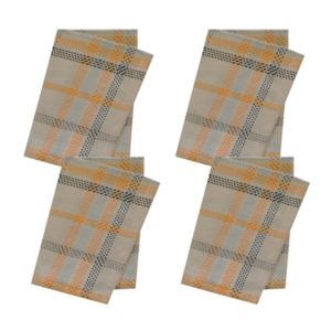 Celebrate Halloween Together Plaid Napkin 4-pk.