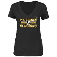 Plus Size Majestic Pittsburgh Penguins V-Neck Tee