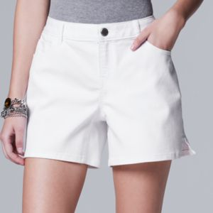 Women's Simply Vera Vera Wang Slit Jean Shorts
