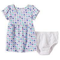 Baby Girl Jumping Beans® Print Cuffed Dress