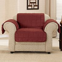 Sure Fit Deep Pile Velvet Chair Slipcover