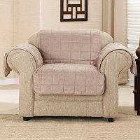 Sure Fit Deep Pile Velvet Chair Slipcover