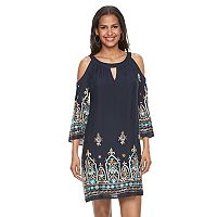 Women's Chaya Embroidered Cold-Shoulder Shift Dress