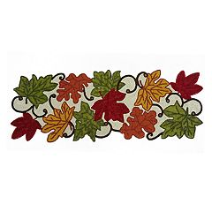 Celebrate Fall Together Beaded Leaf Table Runner 36\ by