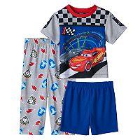 Disney / Pixar Cars 3 Toddler Boy Tee, Shorts & Pants Pajama Set