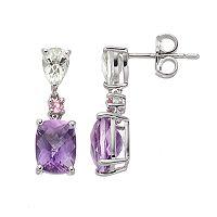 Sterling Silver Gemstone Drop Earrings