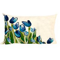 Trans Ocean Imports Liora Manne All-Over Tulips Indoor Outdoor Throw Pillow