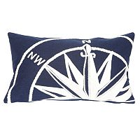 Trans Ocean Imports Liora Manne Compass Indoor Outdoor Throw Pillow