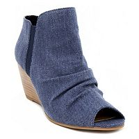 sugar Krenza Women's Peep Toe Wedges
