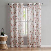 VCNY Home 2-pack Jasmine Semi Sheer Printed Curtain