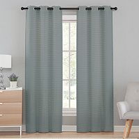 VCNY Home 2-pack Marcus Pleated Semi Sheer Curtain