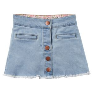 Girls 4-8 Carter's Denim Button-Front Skirt