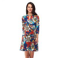 Women's Indication Floral Print A-Line Dress