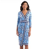 Women's Indication Faux-Wrap Print Dress