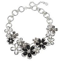 Dana Buchman Black Flower Statement Necklace