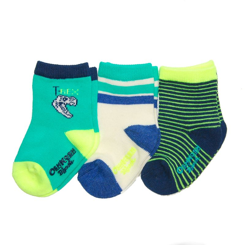 Baby Boy / Toddler Boy OshKosh B'gosh® 3-pk. Printed Crew Socks, Size: 3-12 Mos, Multicolor thumbnail