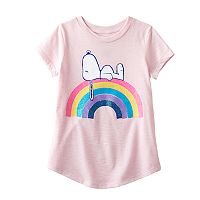Girls 4-10 Jumping Beans® Peanuts Snoopy Rainbow Tee