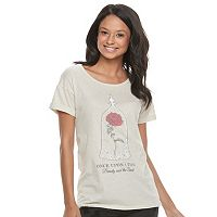 Disney's Beauty and the Beast Juniors' Enchanted Rose Graphic Tee