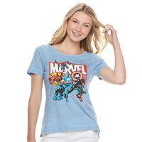 Juniors' Marvel Superheroes Graphic Tee