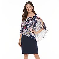 Women's Connected Apparel Print Popover Dress