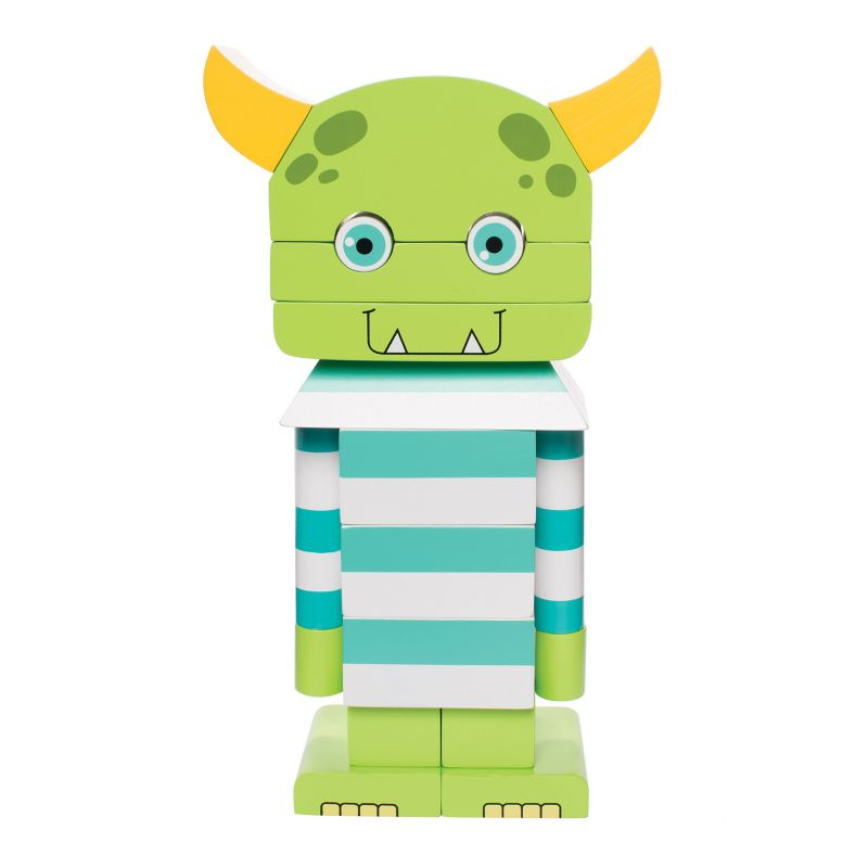 Manhattan Toy Monty The Monster Magnetic Stacking Block Puzzle, Multicolor thumbnail