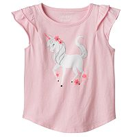 Toddler Girl Jumping Beans® Glittery Graphic Tee