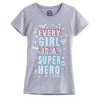 Girls 7-16 DC Comics Wonder Woman, Superman & Batman