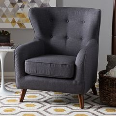 Baxton Studio Ludwig Arm Accent Chair by