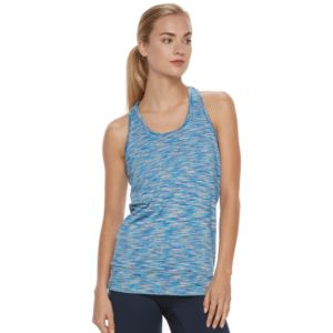 Women's Tek Gear® Space-Dye Banded Bottom Racerback Tank