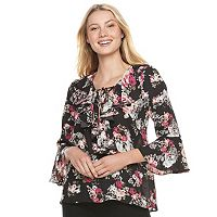 Juniors' My Michelle Ruffle Bell Sleeve Top
