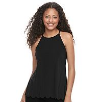 Juniors' Candie's® Split Back High Neck Tank