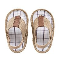 Baby Boy Wee Kids Canvas Soft Sole Thong Sandal Crib Shoes
