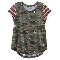 Girls 7-16 & Plus Size SO® Short Sleeve Curve Hem Tee