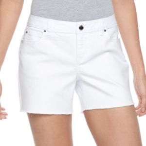Women's Jennifer Lopez Fray Jean Shorts