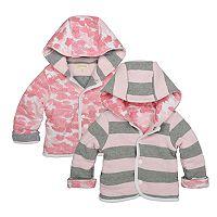 Baby Girl Burts Bees Baby Organic Reversible Jacket