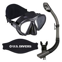 U.S. Divers Adult Magellan Purge Mask & Tucson Snorkel Set