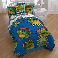 Nickelodeon Teenage Mutant Ninja Turtles Team Turtle 4-piece Twin Bed In A Bag Set
